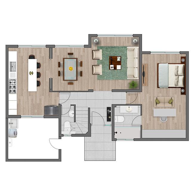 Piso 1 de Casa Alicante