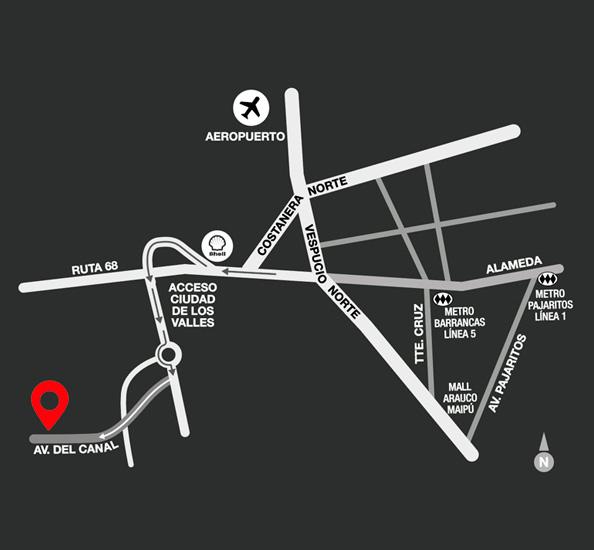 Mapa cómo llegar