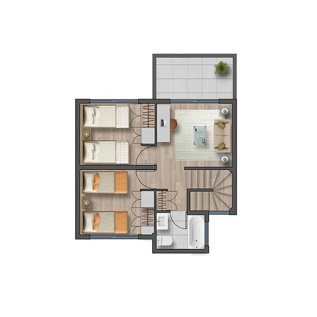 Segundo piso de Casa Ribera II