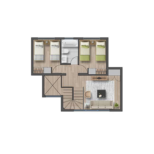 Segundo piso de Casa Valle II – Chileno