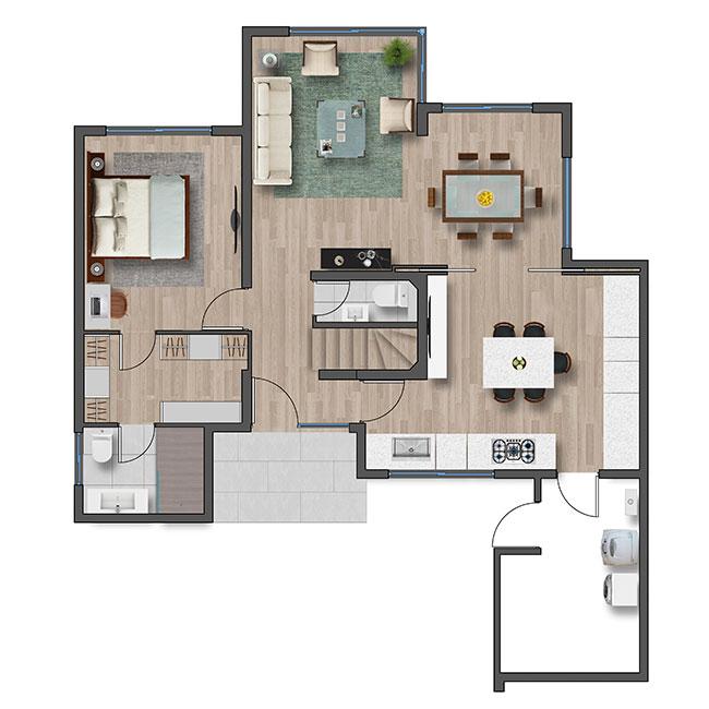 Primer piso de Casa Ribera III – Mediterránea